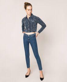 Five-pocket skinny jeans Denim Blue Woman 201MP2321-01