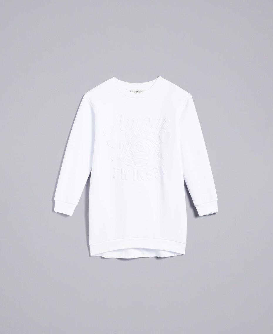Мини-платье из смешанного хлопка с графикой Off White Pебенок GA82LK-01