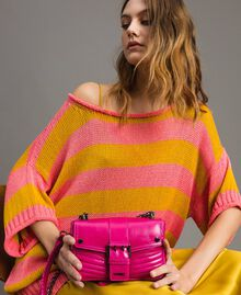 Rebel leather shoulder bag Fuxia Woman 191TO7237-0S