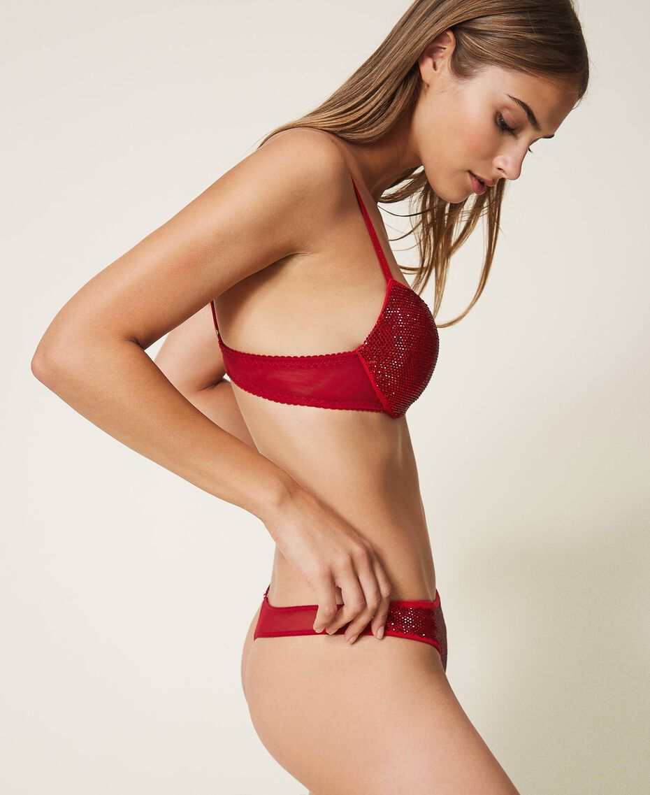 Full rhinestone push-up bra Burning Red Woman 202LL6L44-02