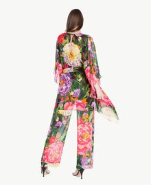 "Kaftan mit Blumenprint ""Summer Garden""-Print Frau TS824Q-03"
