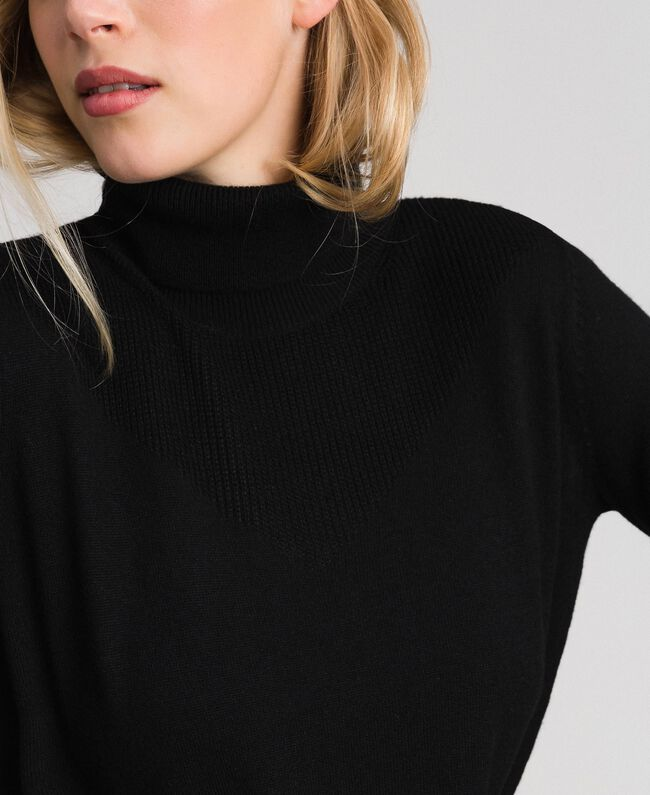Oversized wool and cashmere jumper Black Woman 192ST3152-03