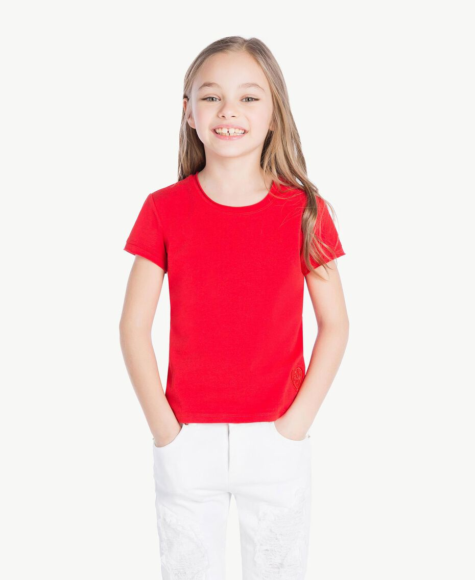Jersey t-shirt Pomegranate Red Child GS82BA-02