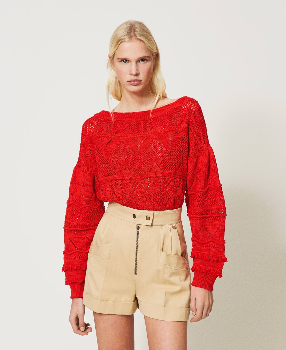 "High-Waist-Shorts ""Cuban Sand""-Rosa Frau 211TT2073-01"