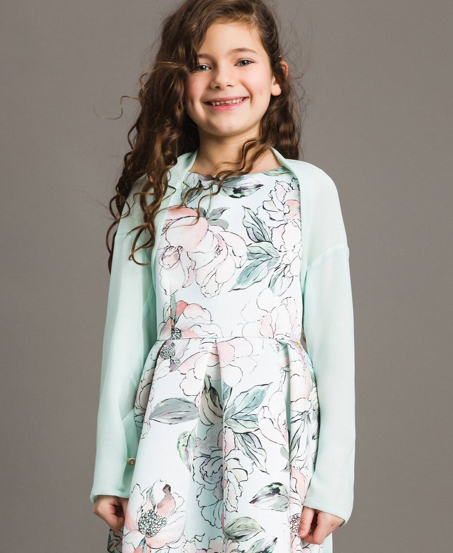 Coprispalle in georgette Chantilly Bambina 191GJ2Q60-02