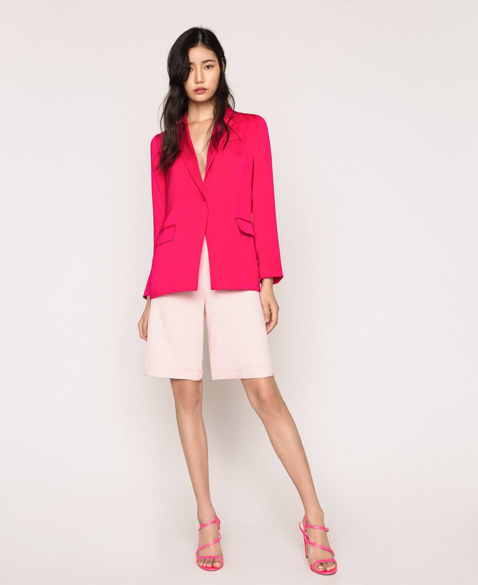 Satin blazer Wild Rose Woman 201MT2031-01