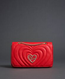 Shoulder bag with quilted hearts Poppy Red Woman 192MA7083-03