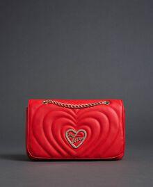 Sac à bandoulière avec cœurs matelassés Rouge Coquelicot Femme 192MA7083-03