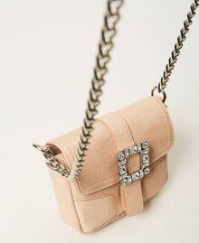 "Small Rebel shoulder bag with jewel buckle ""Nude"" Beige Woman 202TB7140-02"