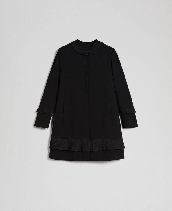 Manteau avec détails plissés