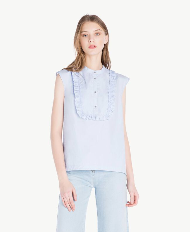 Ruffled top Topaze Sky Blue Woman JS82D6-01