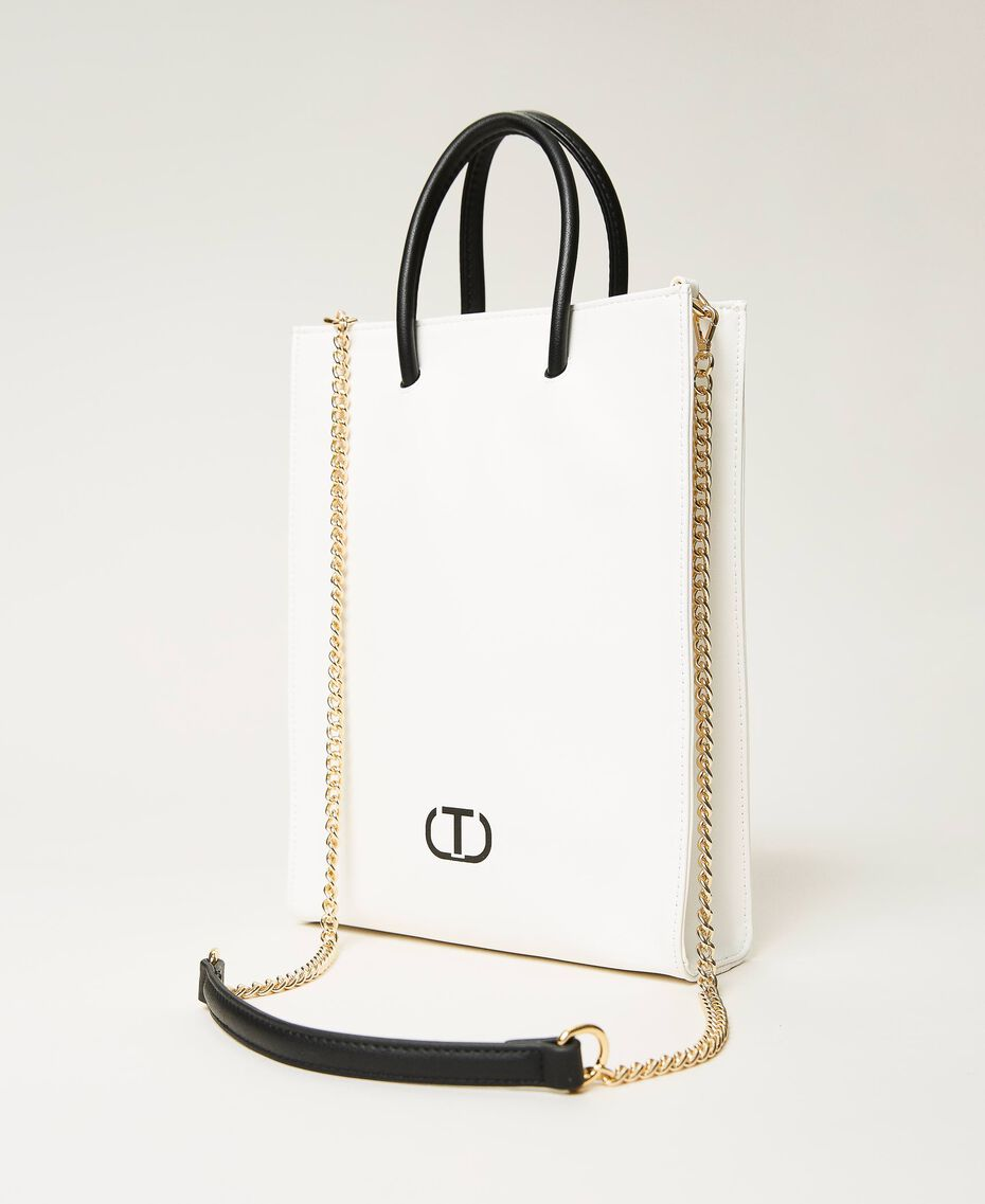 Сумка-шоппер с принтом логотипа Белый женщина 211TD8091-01