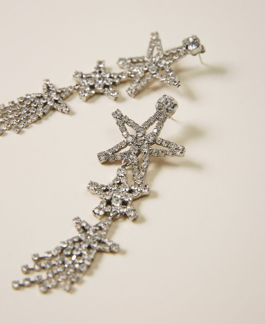 Earrings with rhinestone stars Crystal Woman 202TA430J-02