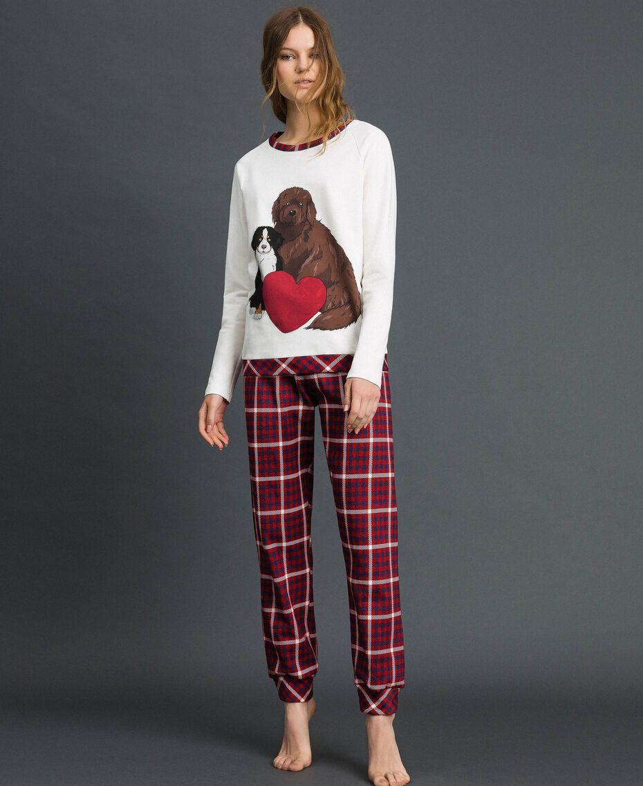 'Tury x Twinset' printed pyjamas White / Checks Woman 192LL21AA-01