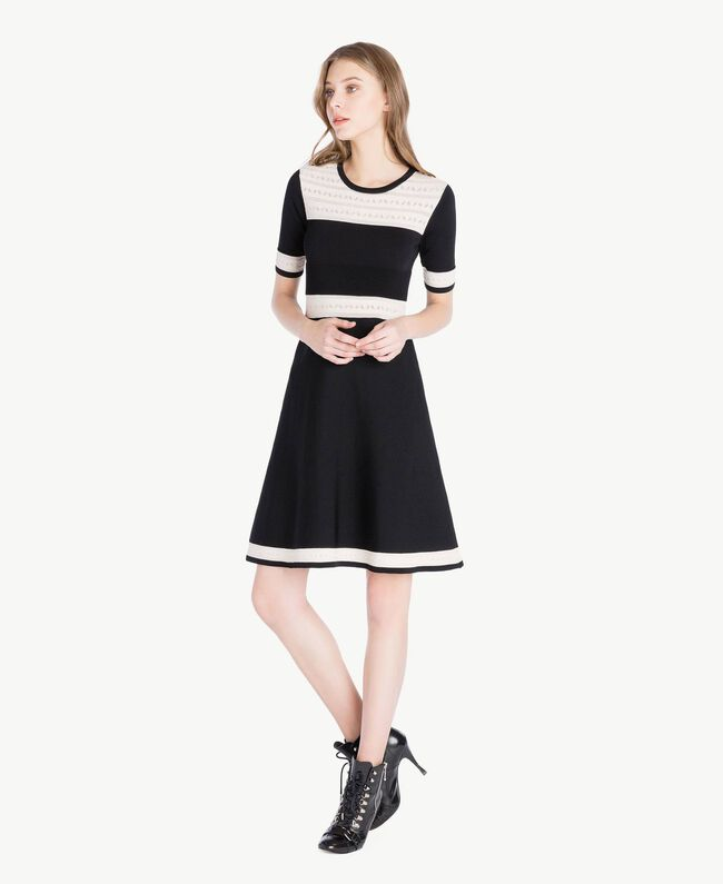 Knitted dress Black Woman PS83JA-01