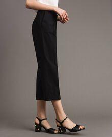 Sandales en similicuir avec talon en bijoux Noir Femme 191MCP04A-0S