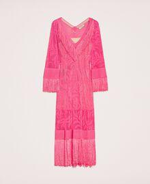 Robe en dentelle filet avec franges Rose «Jazz» Femme 201TT3010-0S