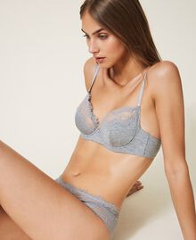 Underwired lace bra Melange Grey Woman 202LL6D55-01