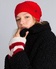 Terry stitch hat with hearts Poppy Red Woman VA8P2V-0S