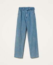 """Jeans 'Azurite' con cintura Blu """"Denim Medio"""" Donna 212AP238A-0S"""