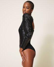 Body avec sequins Noir Femme 202TT2262-03