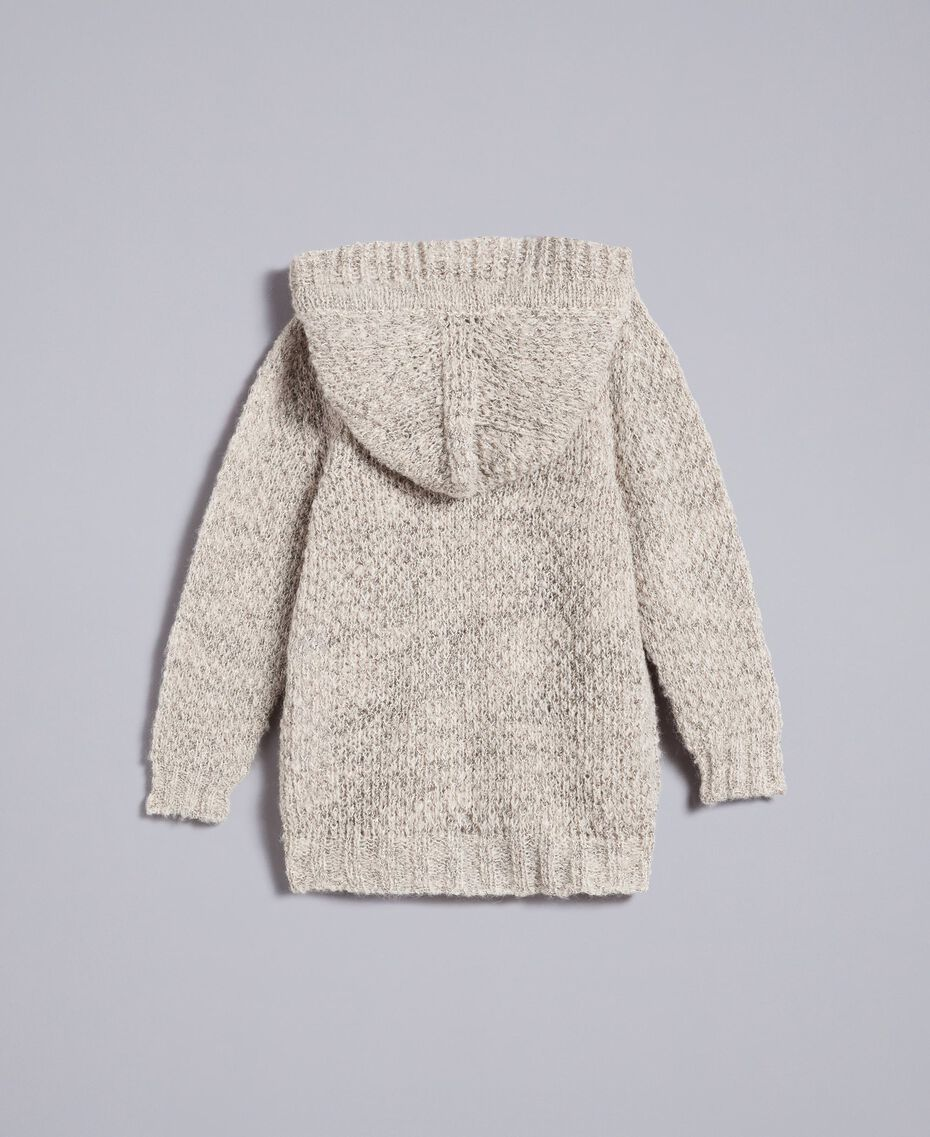 Maxi cardigan en lurex Or Lurex Enfant FA83FP-0S