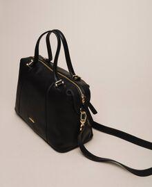 Bauletto-Tasche aus Lederimitat Schwarz Frau 201TA7162-03
