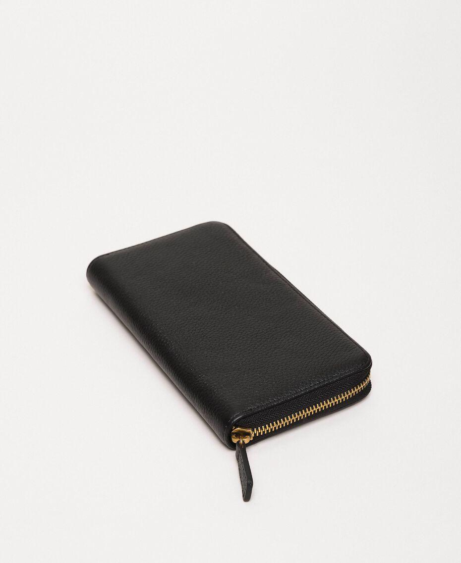 Кожаный кошелек Bea Bag с круговой молнией Черный женщина 201TA7032-03