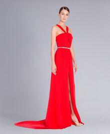 Robe longue Rouge NCN2CB-02