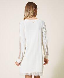 Robe en laine mélangée avec fond de robe Blanc Neige Femme 202TT3132-03