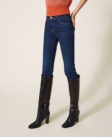 "Eco friendly push-up jeans ""Mid Denim"" Blue Woman 202MP2511-02"