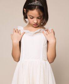 Plumetis tulle dress Pale Cream Child 201GJ2QD0-04