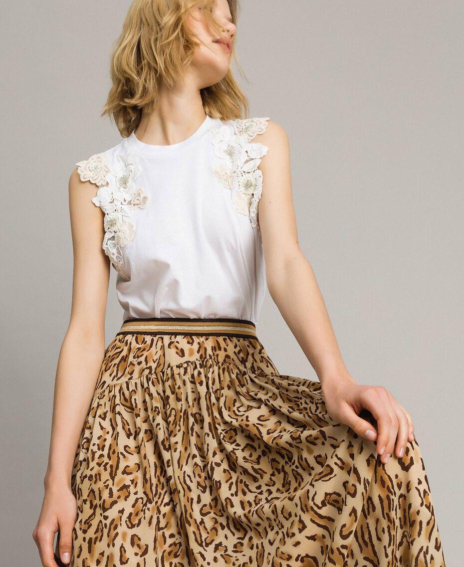 """Falda larga con dos diseños Estampado Animal Marrón """"Petra Sandstone"""" Mujer 191LM2UFF-01"""