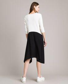 Robe bicolore asymétrique Bicolore Blanc Neige/ Noir Femme 191TP3263-04