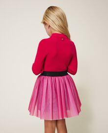 Gerippter Stehkragenpullover Pink Gloss Kind 202GJ3690-03