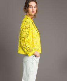 Chaqueta blazer de encaje de macramé Amarillo Fluo Mujer 191MT2150-03