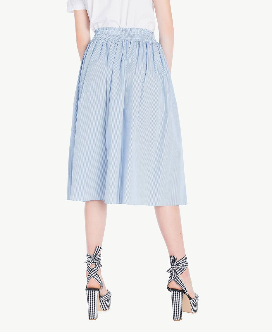 Mid-length skirt Multicolour Topaz Light Blue Pin Stripes Woman JS82DT-03