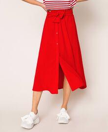 Jupe avec ceinture et boutons Rouge True Red Femme 201LM2BGG-04