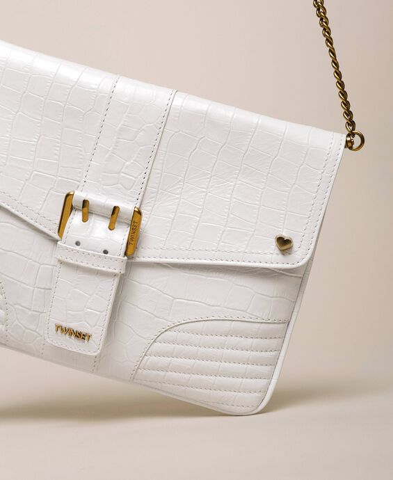 Croc print leather Rebel pochette