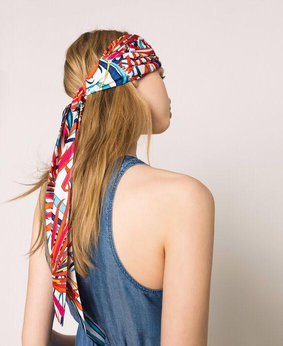 Повязка-фуляр на голову с принтом