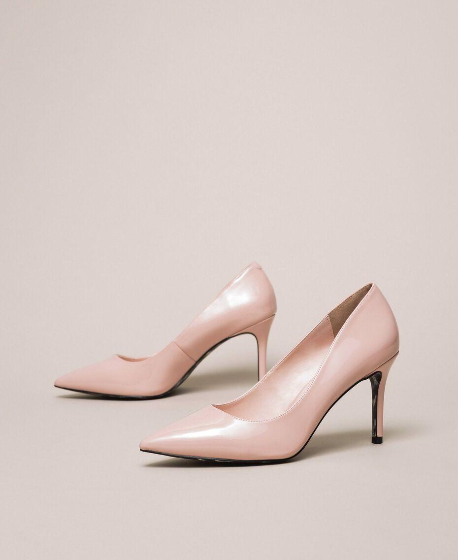 Patent leather court shoes Quartz Pink Woman 201MCP01L-03