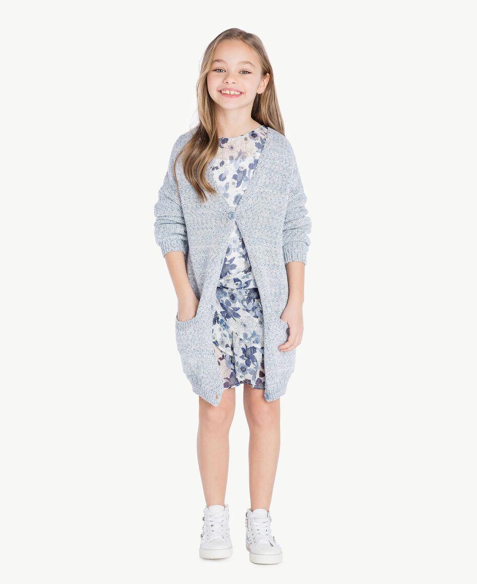 Robe imprimée Imprimé Floral Bleu Océan / Bleu Enfant GS82V2-06