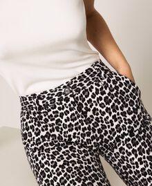 Animal print cigarette trousers Lily Animal Print / Black Woman 201MP2452-05