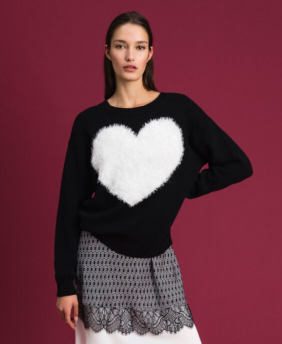 Cardigan-top with heart