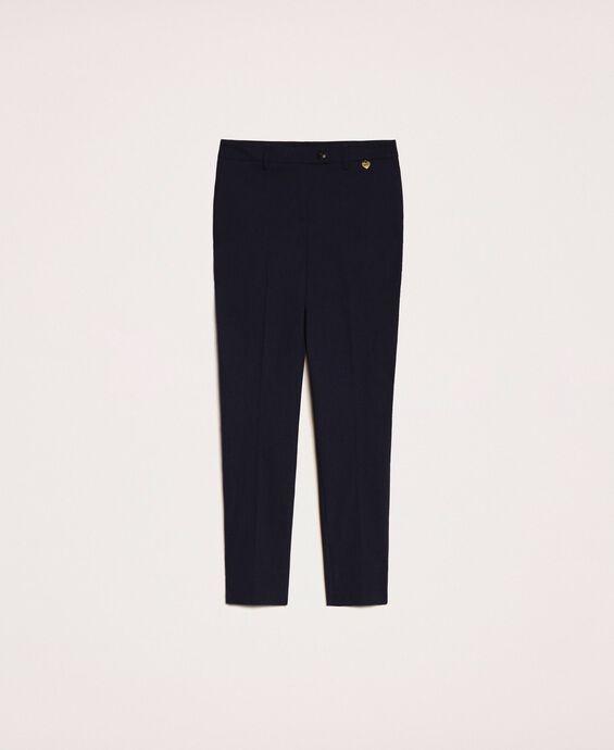 Узкие брюки с карманами
