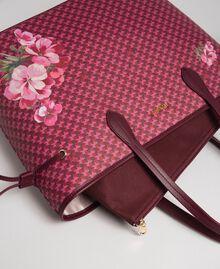 Sac cabas imprimé avec pochette Imprimé Fleurs Papillon Rouge Betterave Femme 192TA7017-02