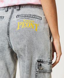 Jean cargo avec poches Denim Gris Femme 211MT256A-06
