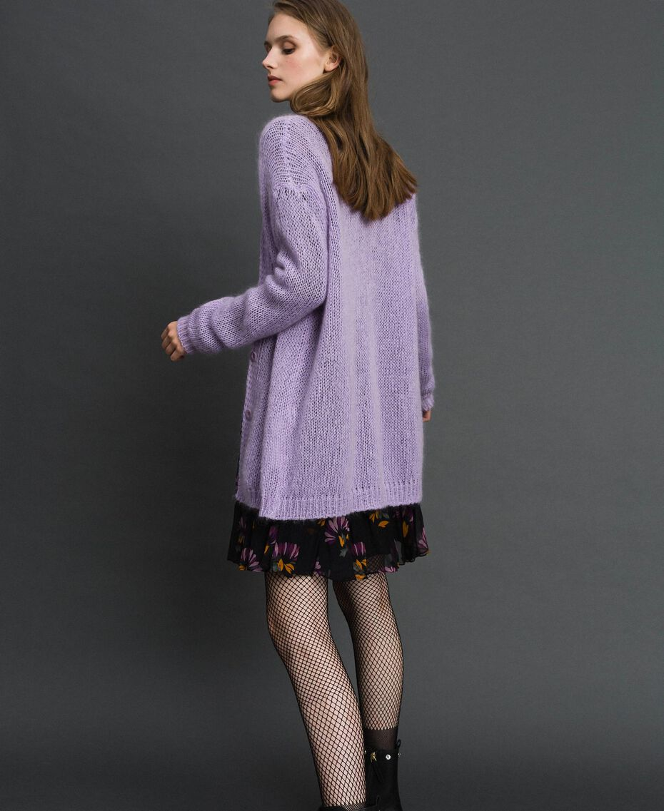 """Cardigan in mohair Rosa """"Pink Lavender"""" Donna 192TT3270-05"""