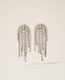 Серьги со стразами и жемчугом Серебряный Crystal женщина 202TA4312-01