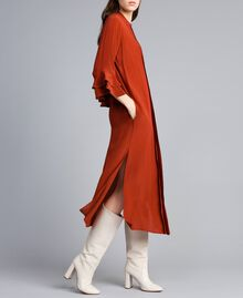 Robe longue en soie mélangée avec strass Brûlé Femme TA8233-02